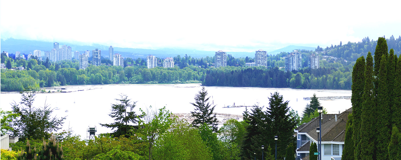 View of Coquitlam (left) and Port Moody (right) from Harbor Heights